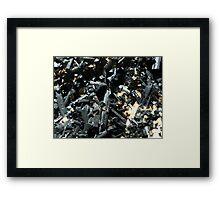 The Hidden Land - Log Jam Framed Print