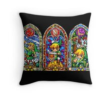 Zelda! - A Glass Stained Design Throw Pillow