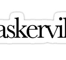 Baskerville Typeface  Sticker