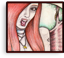 ...The Devil Her Due... Canvas Print