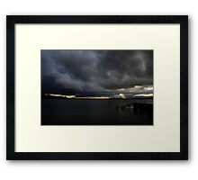 Storm Over Greenwell Point Framed Print