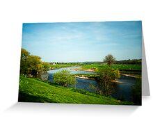 River Ribble At Ribchester Greeting Card