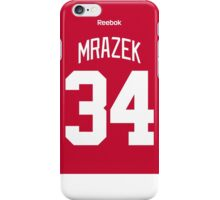 Detroit Red Wings Petr Mrazek Jersey Back Phone Case iPhone Case/Skin