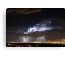 Light the clouds Canvas Print