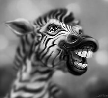 Portrait of a Zebra by murals2go