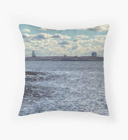Devil's Island Lighthouse Throw Pillow
