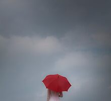 Red parasol by Maria Heyens