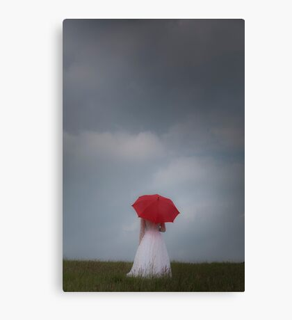 Red parasol Canvas Print