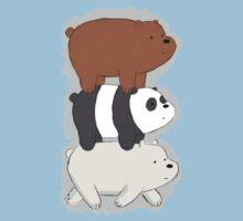 We Bare Bears Bearstack Kids Tee