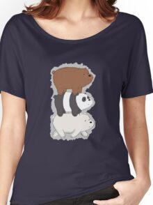 We Bare Bears Bearstack Women's Relaxed Fit T-Shirt