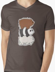 We Bare Bears Bearstack Mens V-Neck T-Shirt