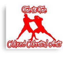 Toe to Toe Mixed Martial Arts Red Canvas Print