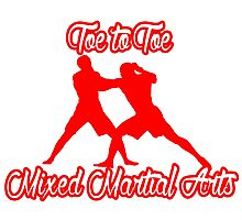 Toe to Toe Mixed Martial Arts Red Photographic Print