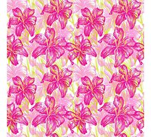 lily flowers pattern  Photographic Print