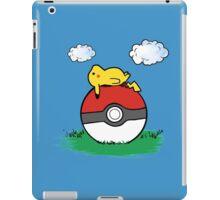 Pikachu with pokeball iPad Case/Skin