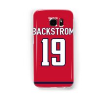 Washington Capitals Nicklas Backstrom Jersey Back Phone Case Samsung Galaxy Case/Skin