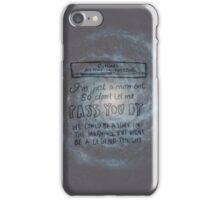 All Time Low - Outlines Lyrics iPhone Case/Skin