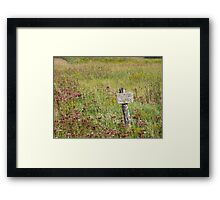 nothing to be shown on the sign Framed Print