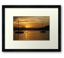 Sunset on Guaraquecaba Bay Framed Print