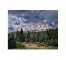 Castle Mountain in Autumn Art Print