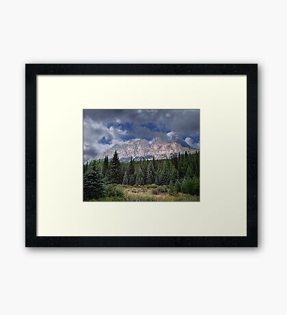 Castle Mountain in Autumn Framed Print