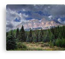 Castle Mountain in Autumn Canvas Print