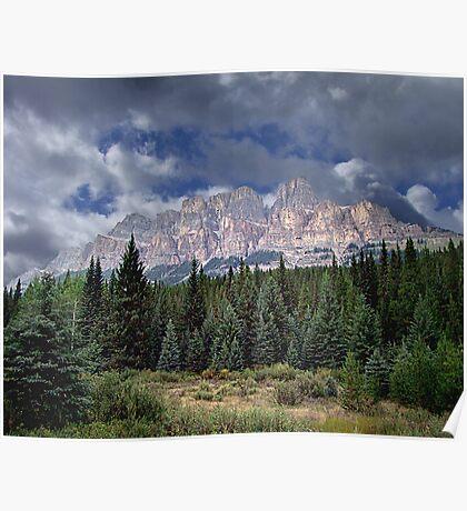 Castle Mountain in Autumn Poster