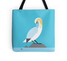 Gannet geometrical vector illustration Tote Bag