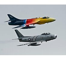 Hawker Hunter and F86 Sabre  Photographic Print