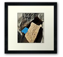 Rock Tetris Framed Print