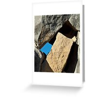 Rock Tetris Greeting Card