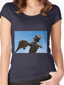 Bronze Statue, Valley of the Temples, Agrigento, Sicily Women's Fitted Scoop T-Shirt