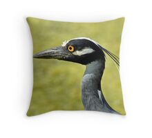 Yellow-Crowned Night Heron Throw Pillow