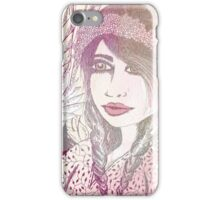 PASTEL WILDFLOWER GIRL iPhone Case/Skin