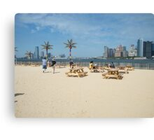 Governors Island, Water Taxi Beach, New York Canvas Print