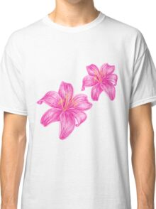 pink lily flower Classic T-Shirt