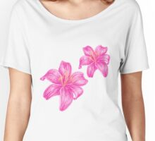 pink lily flower Women's Relaxed Fit T-Shirt