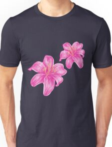 pink lily flower Unisex T-Shirt