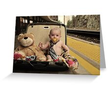 Where are you going? Greeting Card