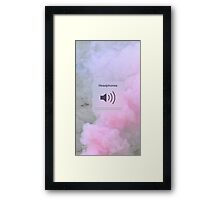 Music, Volume Framed Print