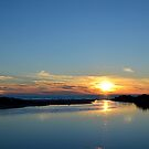 Outlet Sunset by Debbie  Maglothin