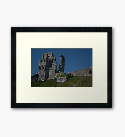 Corfe Castle Framed Print