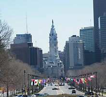 Philadelphia City Hall, Ben Franklin Blvd, Seen from Museum Row by lenspiro