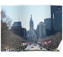 Philadelphia City Hall, Ben Franklin Blvd, Seen from Museum Row Poster