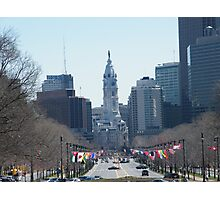 Philadelphia City Hall, Ben Franklin Blvd, Seen from Museum Row Photographic Print