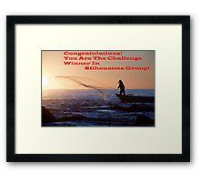Sihouette's Group Challenge Banner Winner Framed Print
