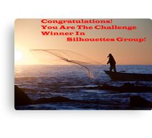 Sihouette's Group Challenge Banner Winner Canvas Print