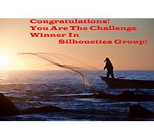 Sihouette's Group Challenge Banner Winner Photographic Print
