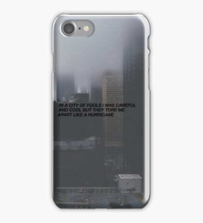 All Time Low - Therapy Lyrics  iPhone Case/Skin