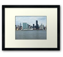 East River View of Manhattan, As Seen from Long Island City Framed Print